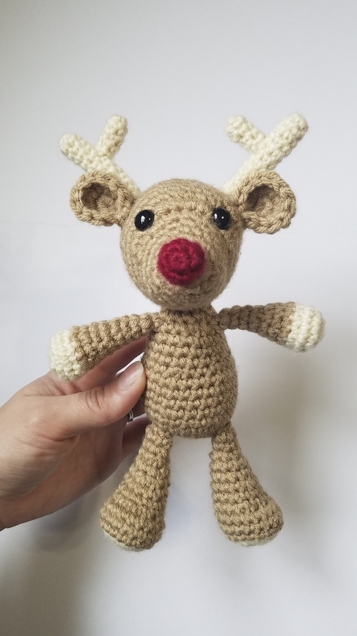 Crochet Red-Nosed Reindeer Pattern | Crafty Tater